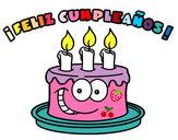 Dibujo Feliz cumpleaños pintado por gatito77