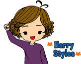 Dibujo Harry Styles pintado por Ingrid1D