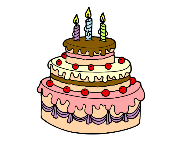 dibujos de tartas de cumpleaos para colorear