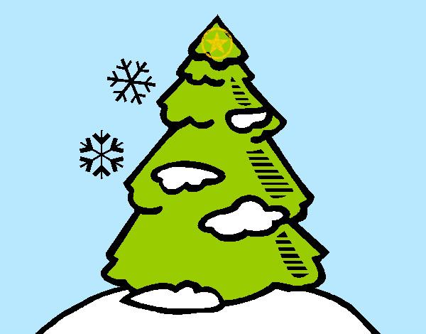 Dibujos de rboles de navidad para colorear for Dibujos de arboles de navidad