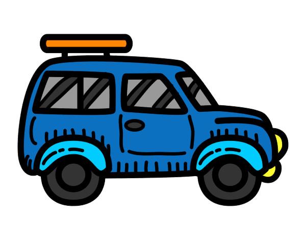 Dibujo de coche con baca pintado por juego157 en dibujos for Coches con silla para carro