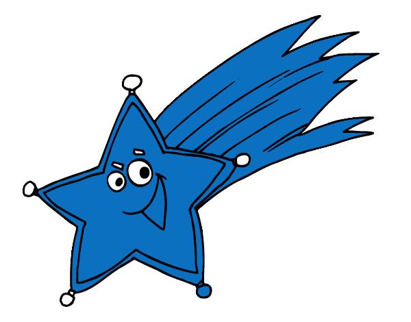 Dibujo de estrella fugaz pintado por lunapyok en dibujos for Estrella fugaz navidad