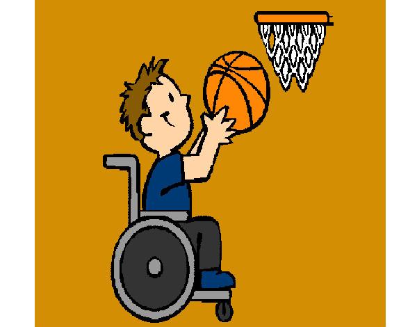 Dibujo de b squet en silla de ruedas pintado por guiliana en el d a 01 09 13 a las - Deportes en silla de ruedas ...