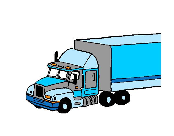 Dibujo De Camión Tráiler Pintado Por Leoni En Dibujosnet El