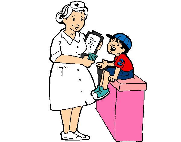 Dibujo de Enfermera y niño pintado por Mialuciana en Dibujos.net el ...