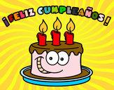 Dibujo Feliz cumpleaños pintado por ani_moreno
