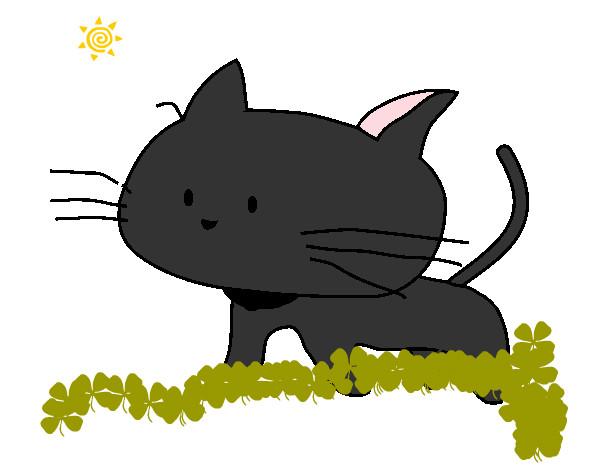 Dibujo de cr a de gato pintado por ling en el - Dibujos de gatos pintados ...