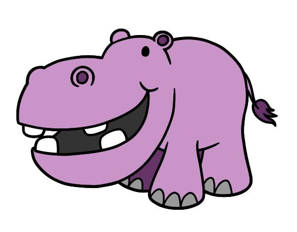 Dibujo de Hipopótamo pequeño pintado por Stellagelo en Dibujos.net ...