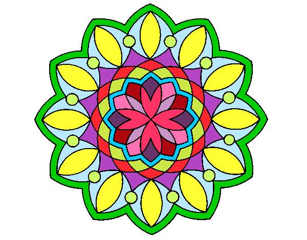 Dibujo de m ndala de colores relajntes pintado por jotrini - Colores para mandalas ...