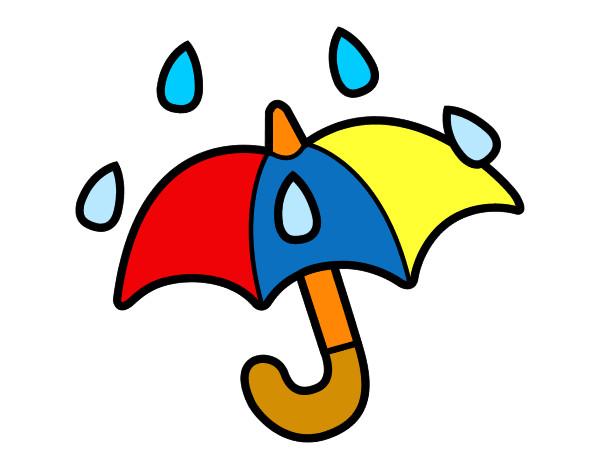 Dibujos De Paraguas Para Colorear E Imprimir: Paraguas Dibujos