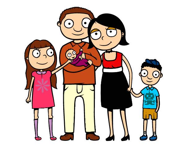 Worksheet. Dibujo de Familia unida pintado por Amjgz en Dibujosnet el da 11