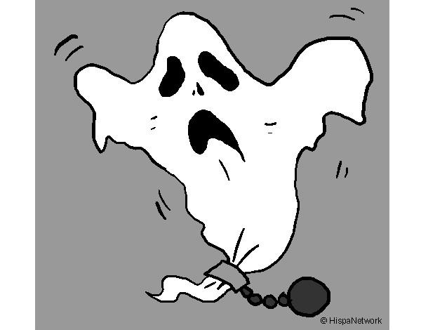 Dibujo De Fantasma Tenebroso Para Colorear: Dibujos De Fantasmas Para Colorear