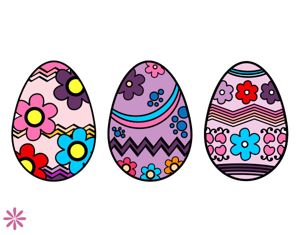 Dibujo de tres huevos de pascua pintado por yarelieste en - Videos de huevos de pascua ...