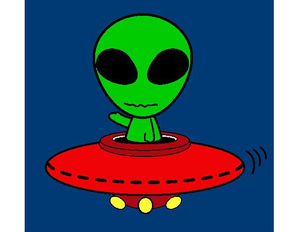 Dibujos de alien genas para colorear - Dibujos infantiles del espacio ...