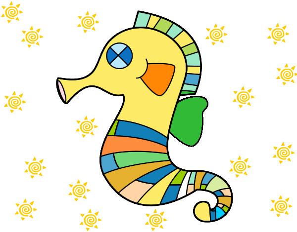 Dibujo De Un Bebe A Color: Dibujo De CABALLITO MULTICOLOR Pintado Por Primorosa En