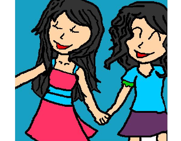 Dibujos de Amistad para Colorear  Dibujosnet