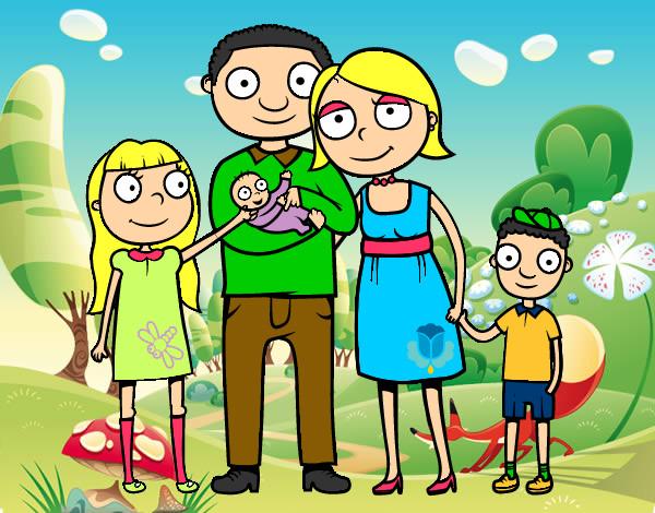 Dibujo De Familia Unida Pintado Por Jade2002 En Dibujosnet El Día