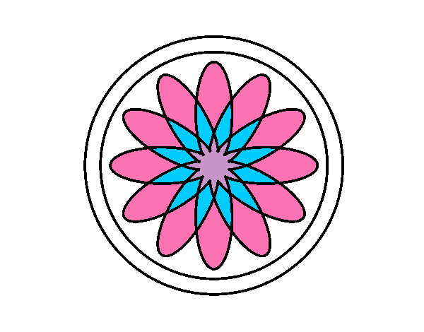 34 Mandalas Para Imprimir Y Colorear: Dibujo De Mandala 34 Pintado Por Dma2131815 En Dibujos.net