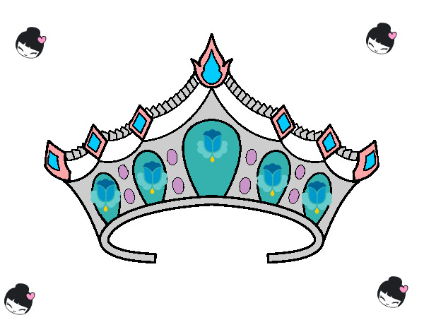 Resultado De Imagen Para Dibujos Para Pintar De Princesas: Resultado De Imagen Para Tiaras De Princesas Para Colorear