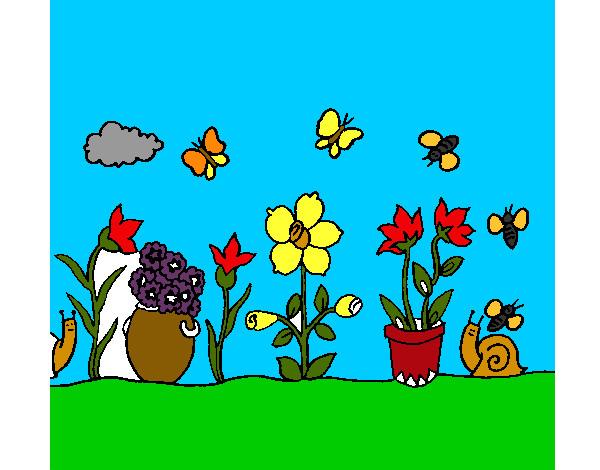 Dibujo de jard n pintado por elamgy en el d a for Jardin dibujo