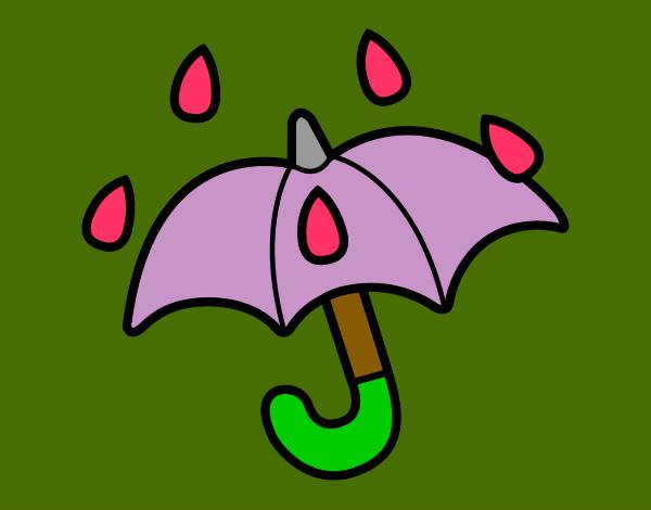 Dibujos De Paraguas Para Colorear E Imprimir: Dibujo De Paraguas Abierto Pintado Por Anaarelys En