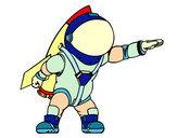 Dibujo Astronauta con cohete pintado por david20125