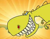 Dibujo Dinosaurio de dientes afilados pintado por david20125