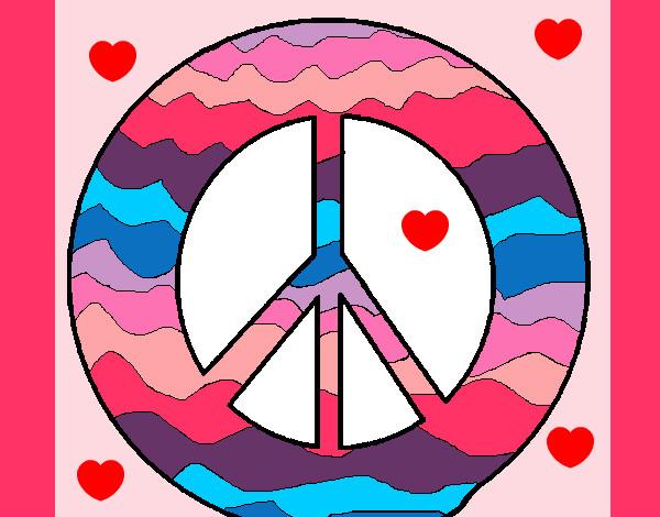 Signos De La Paz Colorear