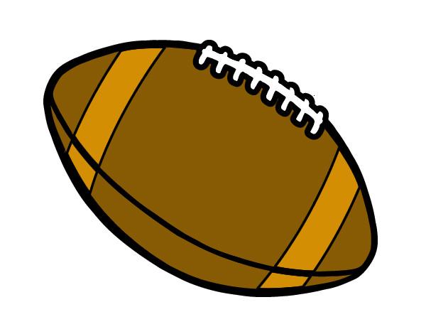 Dibujo de Balón de fútbol americano pintado por Lailaaa en Dibujos ...