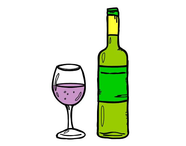 botellas de vino para colorear imagui