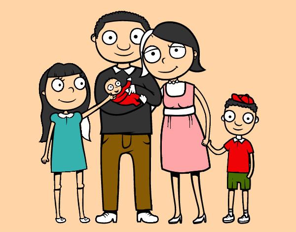 Dibujo de Familia unida pintado por Bombo en Dibujosnet el da 08