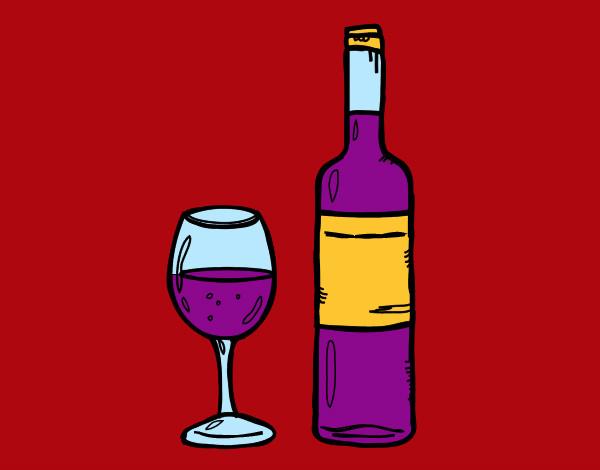 Botella de vino dibujo