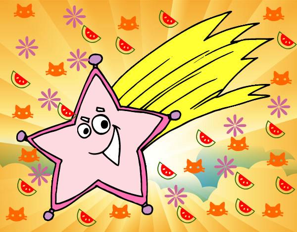 Dibujo de estrella fugaz pintado por lumaruve en dibujos for Estrella fugaz navidad