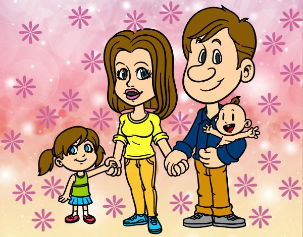 Dibujo de Familia feliz pintado por Iai14 en Dibujosnet el da 13