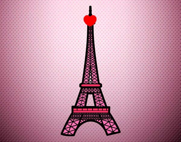 Torre Ifel En Dibujo: Dibujo De Torre Eiffel Pintado Por Mira23 En Dibujos.net