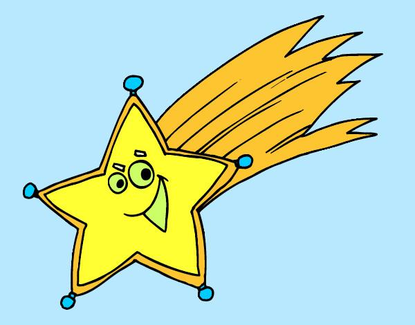 Dibujo de estrella fugaz pintado por albertm en dibujos for Estrella fugaz navidad