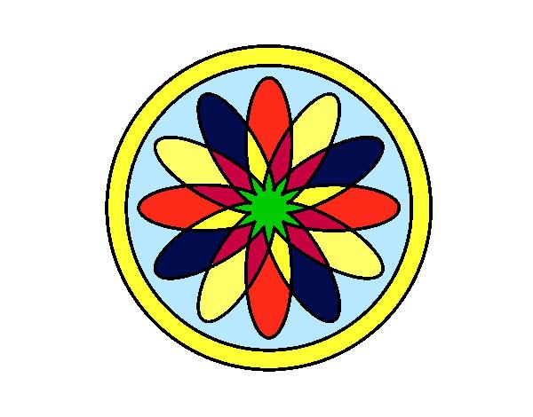 34 Mandalas Para Imprimir Y Colorear: Dibujo De Mandala 34 Pintado Por Quiqua En Dibujos.net El