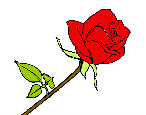 Dibujo de Rosa pintado por Dibujada en Dibujos.net el día 28-11-13 a ...