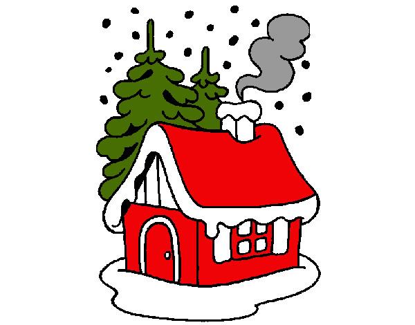 Dibujo de casa en la nieve pintado por dxjm en - La casa de la navidad ...