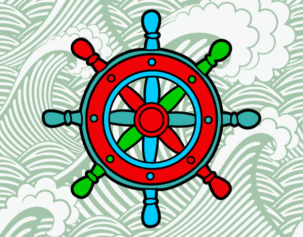 Dibujo de Rueda de timón pintado por Jenaro en Dibujos.net el día ...