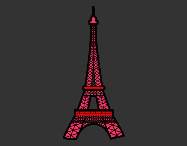 Torre Ifel En Dibujo: Dibujo De Torre Eiffel Pintado Por Kampanita En Dibujos