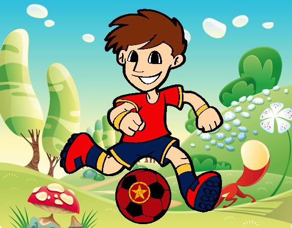 Dibujo De Jugador De Fútbol Con Balón Pintado Por En: Dibujo De Jugador De Fútbol Con Balón Pintado Por Djgoku