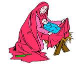 Dibujo Nacimiento del niño Jesús pintado por dayesty