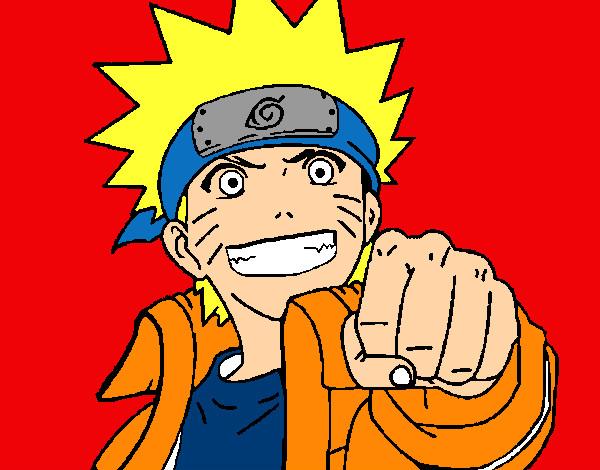 Dibujo de Naruto alegre pintado por Akitaneru en Dibujosnet el