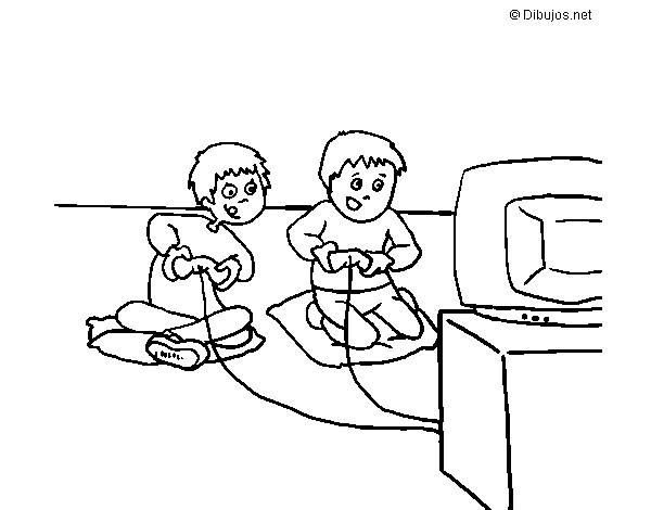 Dibujo De Niños Jugando Pintado Por Canela83 En Dibujos