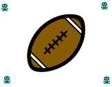 Dibujo Pelota de fútbol americano II pintado por valeria21