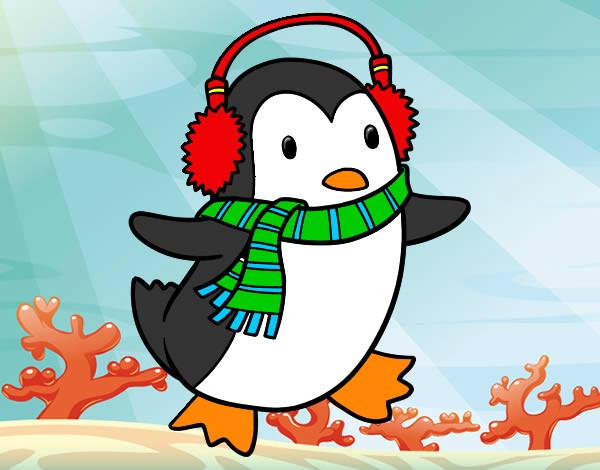 Piccolo Para Colorear: Dibujo De Pingüino Con Bufanda Pintado Por Piccolo En