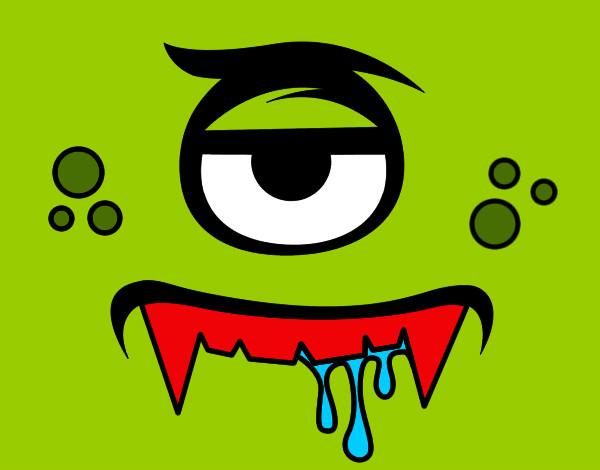 Piccolo Para Colorear: Dibujo De Vampiro Cíclope Pintado Por Piccolo En Dibujos