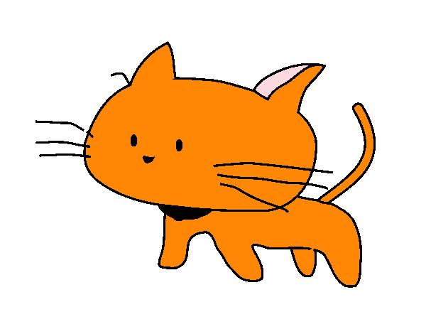 Dibujo de cr a de gato pintado por pusheen en - Dibujos de gatos pintados ...