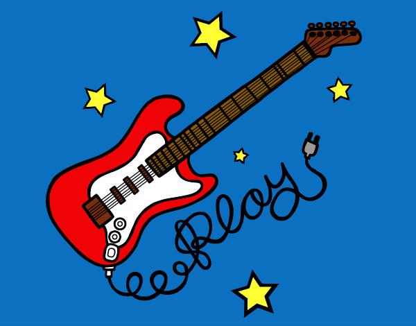 Dibujo de Guitarra Electrica pintado por Azul9898 en Dibujosnet